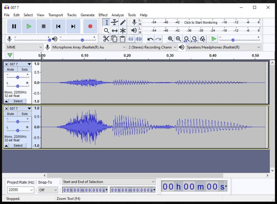 Batch processing files with Audacity